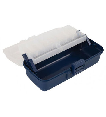 Jarvis Walker 1 TrayBlue/Clear Tackle Box