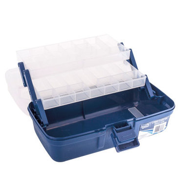 Jarvis Walker 2 TrayBlue/Clear Tackle Box