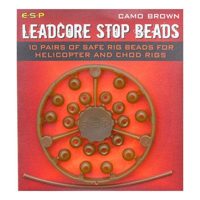 ESP Leadcore Stop Beads Camo Brown