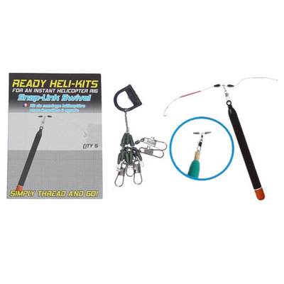 Korum Ready Heli Kit Snap Link Swivel