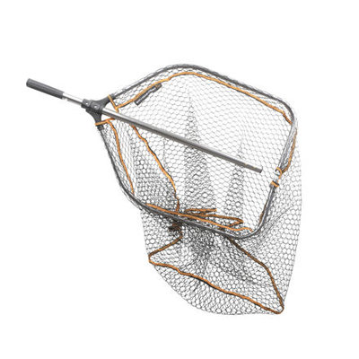 Savage Gear Pro Tele Folding Rubber Large Mesh Landing Net L